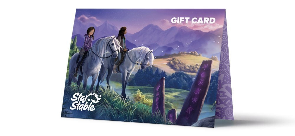 Gift card girls on horses
